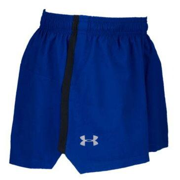 (取寄)アンダーアーマー メンズ ランチ ストレッチ ウーブン スプリット ショーツ Under Armour Men's Launch Stretch Woven Split Shorts Formation Blue Black Reflective