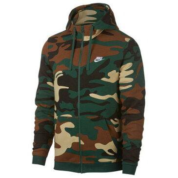 (取寄)ナイキ メンズ パーカー カモ AOP フルジップ フーディ Nike Men's Camo AOP Full-Zip Hoodie Gorge Green