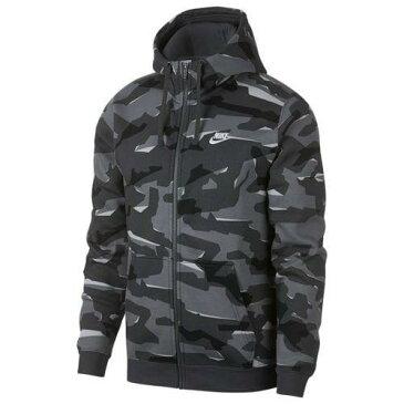 (取寄)ナイキ メンズ クラブ カモ フルジップ フーディ Nike Men's Club Camo Full-Zip Hoodie Cool Grey Anthracite White