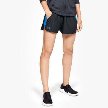 (取寄)アンダーアーマー レディース プレイ アップ ショーツ 2.0 Underarmour Women's Play Up Shorts 2.0 Black Blue Circuit