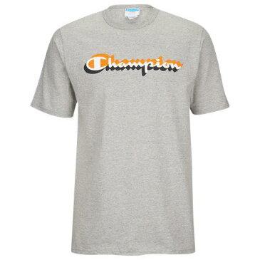 (取寄)チャンピオン メンズ グラフィック ショート スリーブ Tシャツ Champion Men's Graphic Short Sleeve T-Shirt Grey Orange Black