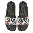 ナイキ メンズ サンダル ベナッシ ホワイト JDI スライド スポーツサンダル シャワーサンダル Nike Men's Benassi JDI Slide Print