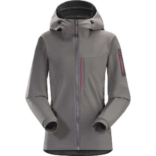 (取寄)アークテリクス レディース ガマー MX フーデッド ソフトシェル ジャケット Arc'teryx Women Gamma MX Hooded Softshell Jacket Nickel 【コンビニ受取対応商品】