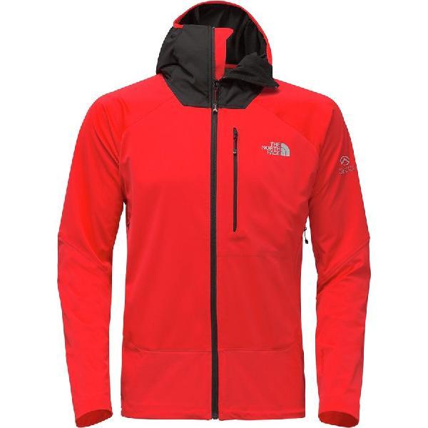 (取寄)ノースフェイス メンズ サミット L4ウィンドストッパー ソフトシェル ジャケット The North Face Men's Summit L4 Windstopper Softshell Jacket Fiery Red/Tnf Black