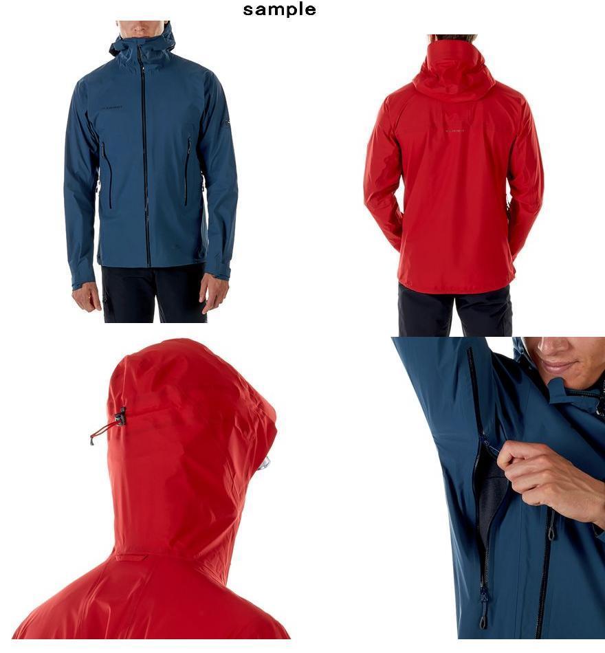 (取寄)マムート メンズ マサオ ライト HS フーデッド ジャケット Mammut Men's Masao Light HS Hooded Jacket Magma