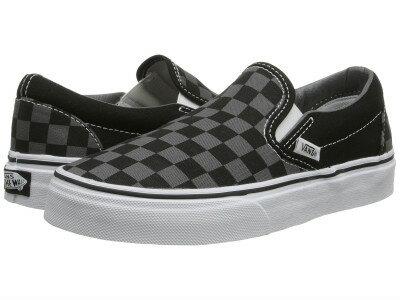 【クーポンで最大2000円OFF】(取寄)バンズ メンズ クラシック スリップ  Vans Men's Classic Slip  (Checkerboard) Black/Pewter