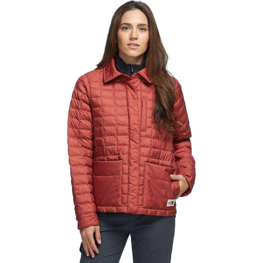 レディースファッション, コート・ジャケット () The North Face Women Thermoball Eco Snap Insulated Jacket Picante Red Heather