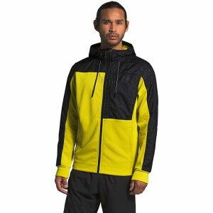 (取寄)ノースフェイス メンズ エッセンシャル フリース フルジップ パーカー The North Face Men's Essential Fleece Full-Zip Hoodie Tnf Lemon/Tnf Black Topo Map Print
