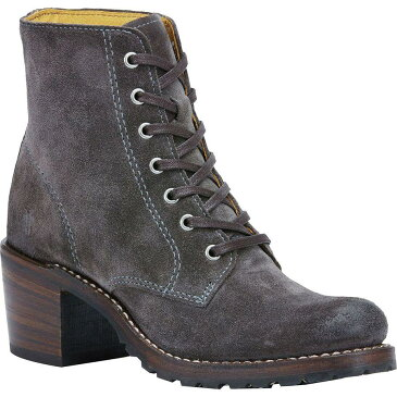 (取寄)フライ レディース サブリナ 6Gレース アップ ブーツ Frye Women Sabrina 6G Lace Up Boot Charcoal