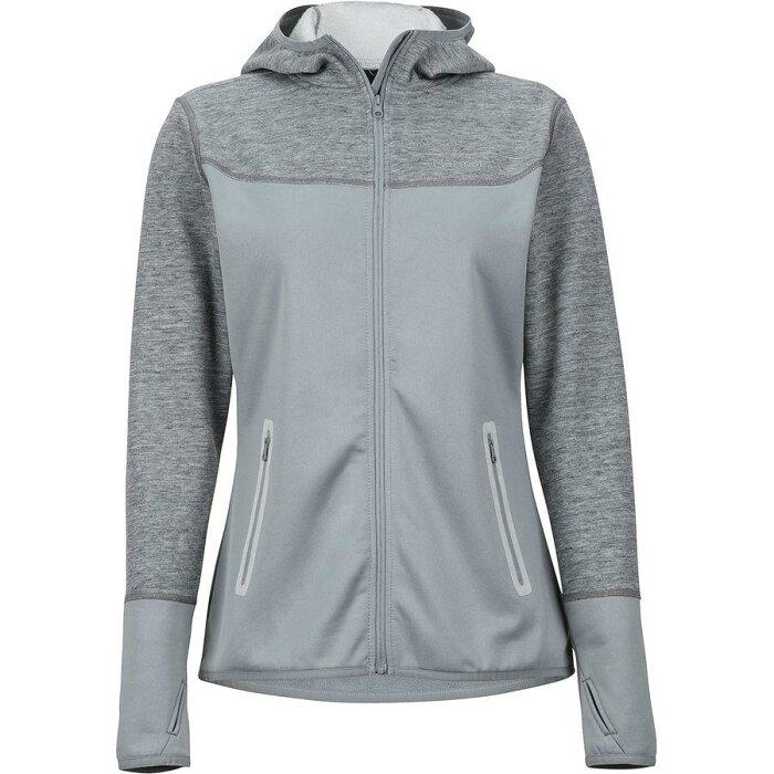 (取寄)マーモット レディース シローナ フーデッド フリース ジャケット Marmot Women Sirona Hooded Fleece Jacket Grey Storm/Bright Steel