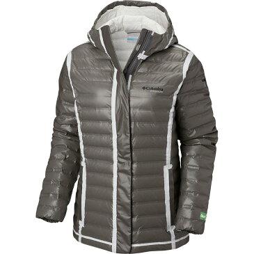 (取寄)コロンビア レディース Titanium アウトドライ Ex エコ フーデッド ダウン ジャケット Columbia Women Titanium Outdry EX Eco Hooded Down Jacket Bamboo Charcoal