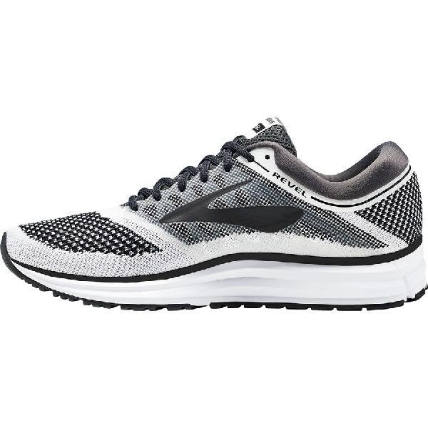 (取寄)ブルックス レディース レベル ランニングシューズ Brooks Women Revel Running Shoe White/Anthracite/Black