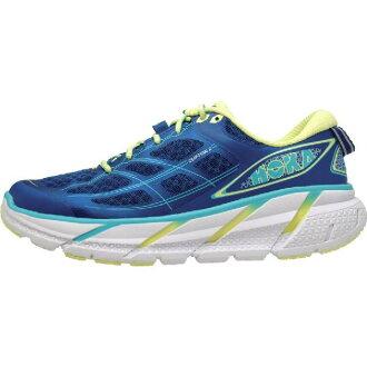 (Get CDN) 胡蘭一對一能力女士克利夫頓 2 慢跑鞋龍工一一婦女克利夫頓 2 跑步鞋真正的藍色/桑妮石灰