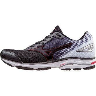 (索取)美津濃人摩托艇19跑步鞋Mizuno Men's Wave Rider 19 Running Shoe Black/High Risk Red/White[支持便利店領取的商品]