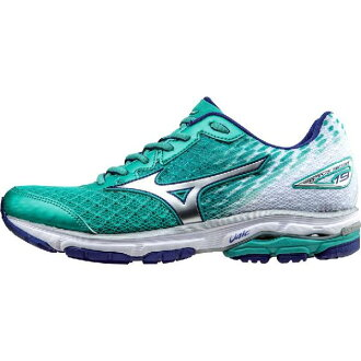 (索取)美津濃女士摩托艇19跑步鞋Mizuno Women Wave Rider 19 Running Shoe Atlantis/Silver/Clematis Blue[支持便利店領取的商品]