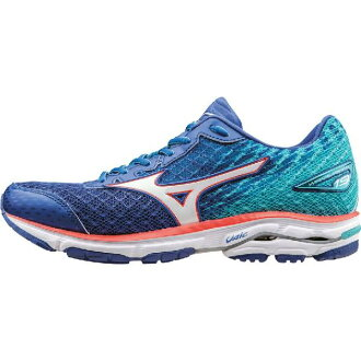 (索取)美津濃女士摩托艇19跑步鞋Mizuno Women Wave Rider 19 Running Shoe Dazzling Blue/White/Capri[支持便利店領取的商品]