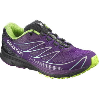 (索取)saromonredisusensumantora 3跟踪跑步鞋Salomon Women Sense Mantra 3 Trail Running Shoe Passion Purple/Cosmic Purple/Granny Green[支持便利店領取的商品]