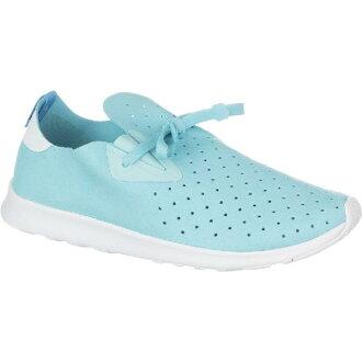 (索取)當地人女士阿波羅嘲笑鞋Native Women Apollo Moc Shoe Shoes Cabo Blue/Shell White/Shell White[支持便利店領取的商品]