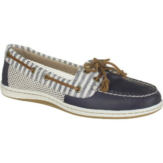 (索取)Sperry Corp.最高層汽水女士Firefish條紋網絲鞋Sperry Top-Sider Women Firefish Stripe Mesh Shoe Navy
