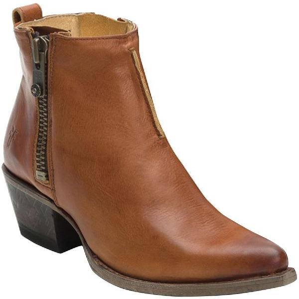 (取寄)フライ レディース サシャ モト ショーティ ブーツ Frye Women Sacha Moto Shortie Boot Cognac 【コンビニ受取対応商品】