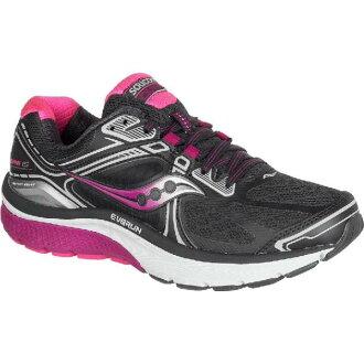 (Get CDN) 索康尼婦女 Omni 15 寬慢跑鞋索康尼婦女 Omni 15 寬跑步鞋灰色/紫色/粉紅色