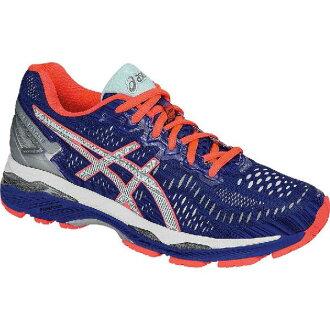 婦女的凝膠-萱野長知 23 Lite 顯示運行的 (get CDN) ASICs 鞋 Asics 婦女凝膠-我們都很激動 23 Lite 顯示跑步鞋 Asics 藍/銀/閃光珊瑚 02P28Sep16