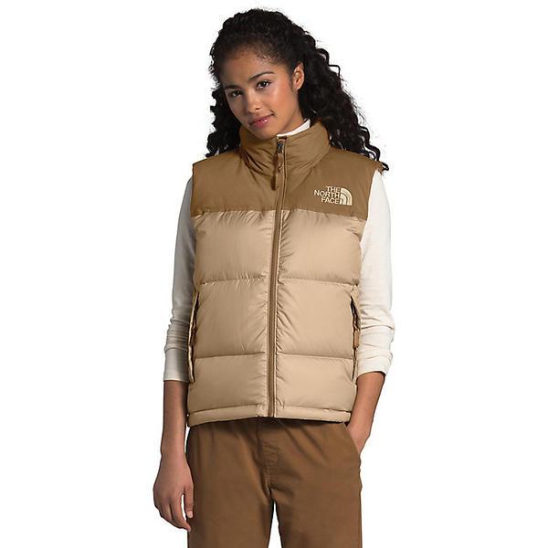 (取寄)ノースフェイス ダウンベスト レディース エコ ヌプシ ベスト The North Face Women's Eco Nuptse Vest Hawthorne Khaki / Utility Brown