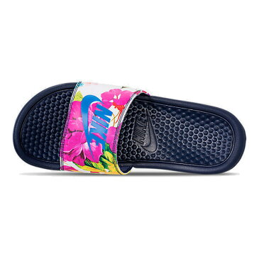 NIKE ナイキ サンダル ベナッシ 柄デザイン Nike Women's Benassi JDI Print Slide Midnight Navy Cobalt Blaze