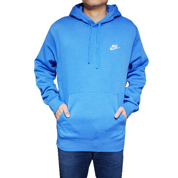 NIKE パーカー ナイキ メンズ 裏起毛 スウェットパーカー クラブ プルオーバー フーディ Nike Men's Club Pullover Hoodie Pacific Blue/White