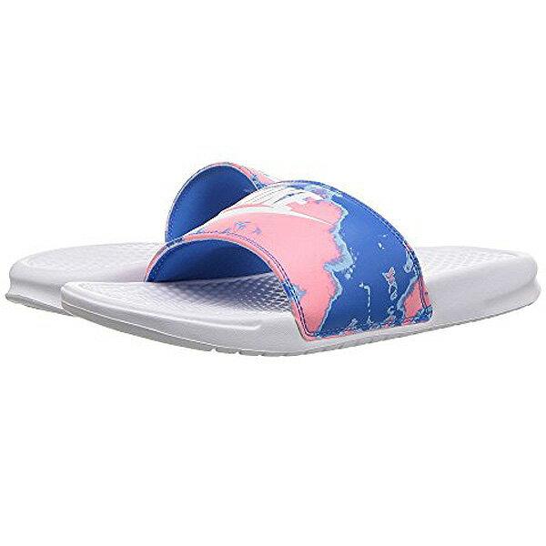NIKE ナイキ ベナッシ サンダル 柄 デザイン ピンク ブルー Nike Benassi JDI Slide White/White/Coral/Blue Nebula