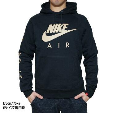 NIKE ナイキ メンズ パーカー スウィッシュロゴ フーディ ブラック Nike Men's Graphic Hoodie Black Gold 【コンビニ受取対応商品】