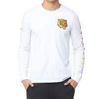 Nikeナイキメンズ長袖TシャツホワイトエアマックスプラスチューンロングスリーブTシャツNIKEMen'sAirMaxPlusTunedLongSleeveT-shirtWhiteYellowRed