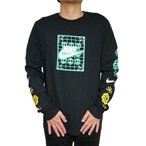 トップス, Tシャツ・カットソー NIKE T T T Nike Mens Day Of The Dead Long Sleeve T-Shirt Black