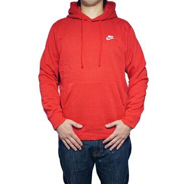 NIKE パーカー ナイキ メンズ 裏起毛 スウェットパーカー クラブ プルオーバー フーディ Nike Men's Club Pullover Hoodie University Red/White