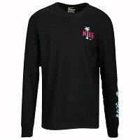 NIKEナイキメンズ長袖TシャツブラックグラフィックロングスリーブTシャツNikeGraphicLongSleeveT-Shirt黒