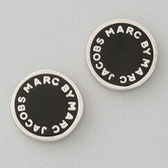 マークバイマークジェイコブス エナメルロゴピアス Marc by Marc Jacobs Logo Disc Stud Earrings /Black (Argento) 【レディース ファッション ブランド】 あす楽対応 【はこぽす対応商品】