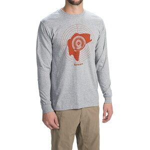 シムス Tシャツ メンズ バス ハンター 長袖Tシャツ グレー SIMMS Bass Hunter L/S T-Shirt【フィッシング】