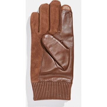 (取寄)ポロ ラルフローレン ナッパ パッチ スエード グローブ Polo Ralph Lauren Nappa Patch Suede Gloves Snuff