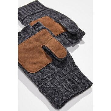 (取寄)ポロ ラルフローレン ウール ブレンド コンバーチブル ミトンズ Polo Ralph Lauren Wool Blend Convertible Mittens Charcoal