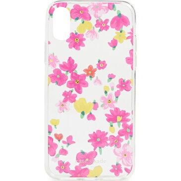 【エントリーでポイント5倍】ケイトスペード iPhoneXS iPhoneX ケース ジュエルド マーカー フローラル アイフォン XS X iPhoneケース Kate Spade New York Jeweled Marker Floral iPhone XS / X Case ClearMulti