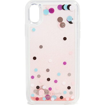 【エントリーでポイント5倍】Kate Spade iPhone ケース XR ケイトスペード ディスコ ドット リキッド グリッター アイフォンケース XRケース Kate Spade New York Disco Dots Liquid Glitter iPhone Case