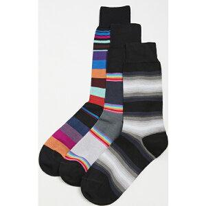(取寄)ポールスミス メンズ メンズ クルー ソックス 3 パック Paul Smith Men's Crew Socks 3 Pack Black
