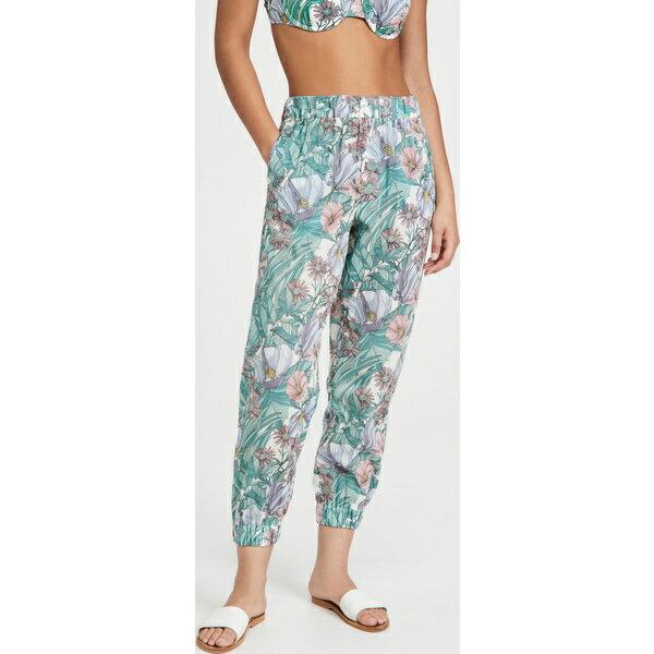 ボトムス, パンツ () Tory Burch Womens Printed Beach Pants Hibiscus