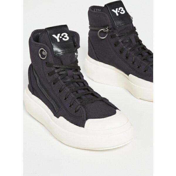 レディース靴, スニーカー () v1 Y-3 Womens Womens Y-3 Womens Womens Classic Court High V1 Sneakers Black Black Corewhite