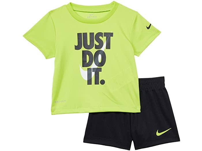 スーツ・カジュアルセットアップ, カジュアルパンツセット () T () Nike Boys Kids Just Do It Graphic T-Shirt and Shorts Two-Piece Set (Infant) BlackCyber