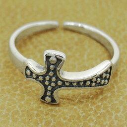 トゥリング クロス 十字架 ブラック レディース メンズ シルバー925 トーリング トゥーリング 足指指輪 ピンキーリングにも