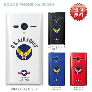 【AQUOS PHONEケース】【203SH】【Soft Bank】【カバー】【スマホケース】【クリアケース】【U.S.AIR FORCE】 203sh-ca-bs038