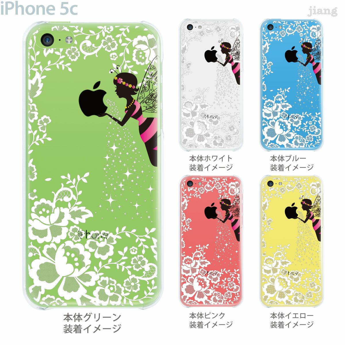 【iPhone5c】【iPhone5c ケース】【iPhone5c カバー】【ケース】【カバー】【スマホケース】【クリアケース】【クリアーアーツ】【Clear Arts】【りんごと妖精】 01-ip5c-zec024