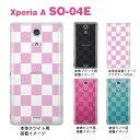 【Xperia A SO-04E】【ケース】【カバー】【スマホケース】【クリアケース】【チェック・ボーダー・ドット】【トランスペアレンツ】【カラーズ】【ボックス】 06-so04e-ca0031a-p