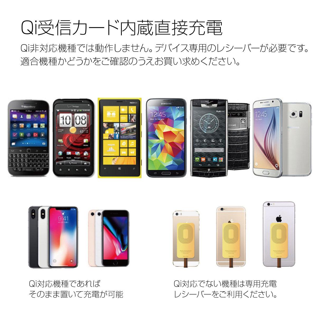 ワイヤレス充電器 ワイヤレス 充電器 プレートタイプ iPhone8 iPhone8 Plus iPhoneX Qi Galaxy note8 s8 s7 wi-cha-pad